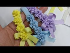 Ribbon Crafts, Hair Accessories For Women, Hair Bows, Sewing Crafts, The Creator, Girl Headbands, Crochet, Videos, Youtube