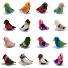 Too cute!    Birds of a Sweater - Pack of 3 Cat Toys. $15.00, via Etsy.