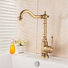 Vintage Kitchen Faucet Stainless Steel Cabinets Manufacturers 13 Best Faucets Images Brass Antique Vessel