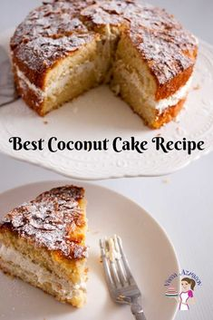 Coconut is such a versatile flavor. Simple, easy and effortless coconut cake recipe makes a delicious cake from scratch with desiccated coconut in 5 mins Best Coconut Cake Recipe, Coconut Recipes, Baking Recipes, Dessert Recipes, Bowl Recipe, Sponge Cake Recipes, Light Desserts, Cake Servings, Cookies Et Biscuits