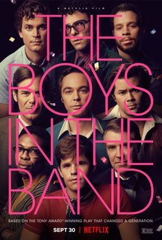 Based on a play which was really obvious in how this was staged. It was really good though and worked well. Charlie Carver, Jim Parsons, Zachary Quinto, Matt Bomer, Movies And Series, Movie Titles, Movie Tv, Tv Series, The Band