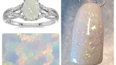 Easy Opal Gemstone Nails Quickie @thenailengineer