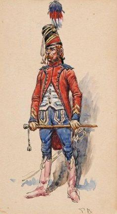 French; Hussars, Trumpeter Brigadier by Pierre Benigni