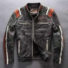 2017 2017 Avirexfly Motorcycle Jackets Indian Head Embroidery Leather Jackets Stand Collar Vintage Leather From Qltrade_1, $331.66 | Dhgate.Com
