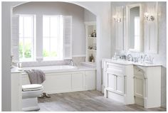 White country cottage style furniture from Utopia Bathrooms. Fitted Bathroom Furniture, Cottage Style Furniture, Cottage Style Bathrooms, Bathroom Colors, Bathroom Inspo, Bathroom Ideas, Tub Tile, Tile Showroom, Modular Walls