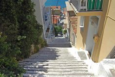 Pythagorion, the street with 109 steps. For the people with a very good condition.