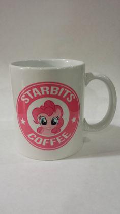 Pinkie Pie Starbits Mug.a cute way to perk up my day Mlp, Fluttershy, Pinkie Pie, My Little Pony Unicorn, Tiny Horses, My Little Pony Friendship, Twilight Sparkle, Rainbow Dash, Pet Shop