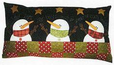 Snowman Pillow Pattern Snow Wish Pillow QP166 by AnnadaisysFabrics