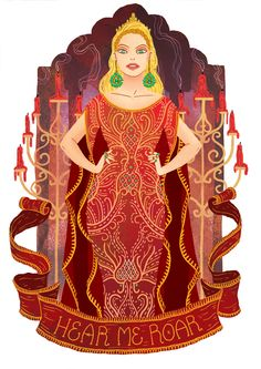 Cersei Lannister from A Song of Ice And Fire by George R. R. Martin. Illustration by Azim Al Ghussein.