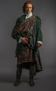 "Oh James! I'm about to fly to Scotland and walk through the Stones just to fix your hair....— Official photos from Episode 107 ""The Wedding"" Sam Heughan, ""Jamie Fraser"""