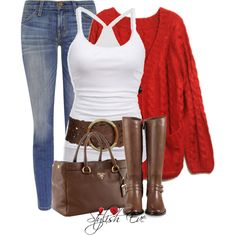 Lady in Red., created on Polyvore