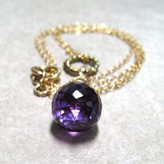 Alexandrite Necklace 14K Gold Fill Wire Wrap by MoonlightDesigns2, $54.00