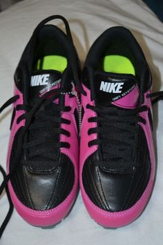 4a0cf21aa53 Details about Girls Nike Softball Black Pink Unify Keystone Cleats Shoe Size  3.5Y