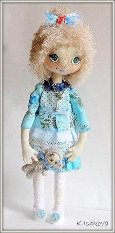 Textile Fantasy Cloth Doll Poly Fairy SOLD by ArtDollsByKseniya