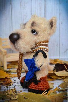 Игрушки животные, ручной работы. Ярмарка Мастеров - ручная работа. Купить Фима.... Handmade. Бежевый, собаки, щенок, подарок