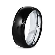 Titanium Black Ring Men Titanium Rings Black Black by GiftFlavors, $231.77