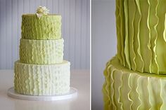 Green ombré wedding cake. Rustic and elegant?