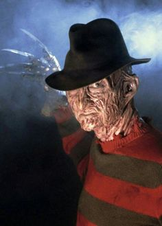 Day 9  Freddy is one of my all time favorite classic horror villains!  I even know the song they sing about him!   Not going to lie: these movies when I was young almost made me afraid to go to sleep! That's when Freddy would show up, in your dreams, and then....you die!   So celebrate your favorite horror villain and post a picture of whomever it is below!   #horror #villains #freddy #sweetdreams