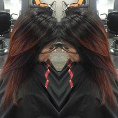 Hair by April Marie at Salon Bella Luca! #ombre #hothair #funhair #funcolors #ombrestillin call and book 440-951-1110