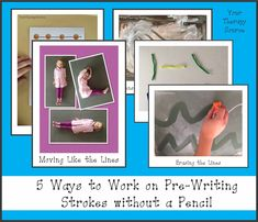 5 Ways to Work on Pre-Writing Strokes without Picking Up a Pencil