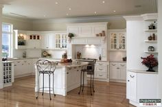 White cabinets, light grey countertops