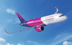 Download wallpapers 4k, Airbus A320neo, Wizzair, passenger plane, A320neo, civil aviation, Airbus