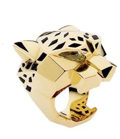 Gold Panther Cartier Style Ring