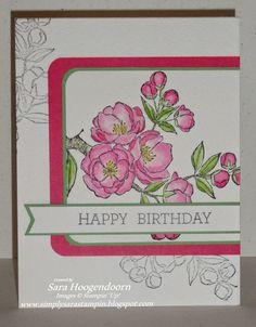 Simply Sara Stampin': Apple Blossom Birthday