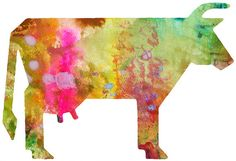 Cow Watercolor 11x14 Art Print by whimsicalgallery on Etsy