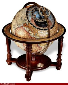 1870 best globes images on pinterest globes map globe and vintage clock on a globe of the earth gumiabroncs Gallery
