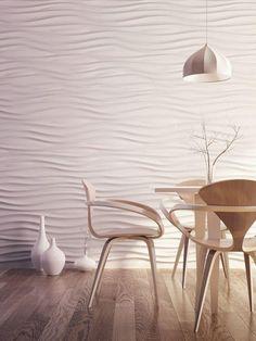 Abstrakte 3D-Wandpaneele für einen Speiseraum
