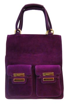 Zac Posen purple bag - what an interesting look and color. #bags #handbags #purses