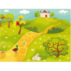 Farbenfrohe Fototapeten für Kinder verwandeln ein übliches Kinderzimmer in einen märchenhafter Spielplatz. #fototapeten #fototapete #wallpapers #wanddekoration #kinder #kinderzimmer #HomeDecor