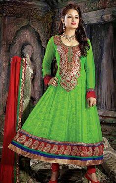 Picture of Marvelous Lime Green Wedding Salwar Kameez