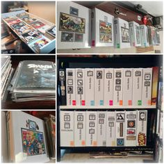 Comic book store & cafe bookshelf comic books diy: comic book problems- how to store and organize.