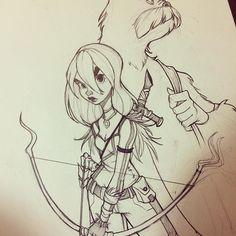 Random sketchbook doodle.. ✏✏ #sketch #doodle #sketchbook #characterdesign #conceptart #pencildrawing