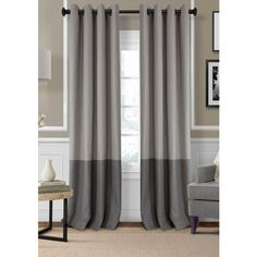 Elrene  Braiden Blackout Room Darkening Window Panel 52-In. X 95-In. ($60) ❤ liked on Polyvore featuring home, home decor, window treatments, curtains, grey, grey curtains, gray grommet curtains, gray window treatments, gray curtain panels and grommet curtains