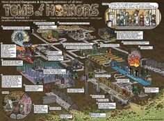 Tomb of Horrors map by Jason Thompson