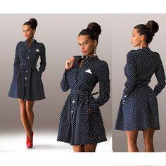 Новое платье  женщины горячая женская одежда  украшения на круглую точку с длинными рукавами сексуальное миниое платье хорошая качество 1203A