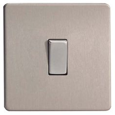 Varilight 10A 2-Way Single Brushed Silver Effect Light Switch   Departments   DIY at B&Q Silver, Snug, Stainless Steel, Decorating, Bathroom, Space, Kitchen, Inspiration, Decor