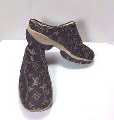 Louis Vuitton Clogs Mules Brown Monogram Canvas Size US 9.5 M #LouisVuitton…