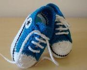 Como Fazer Tênis de Crochê Para Bebê (2)