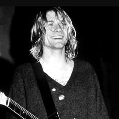 kurt cobain black hair - Google Search