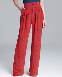 Rachel Roy Pleated Printed Pants - to add a jolt of joy to my office outfit. At $300+ , on my wish list for now ;-)