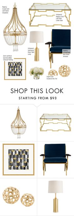 Gold Home Decor by kathykuohome on Polyvore featuring interior, interiors, interior design, home, home decor, interior decorating, livingroom, homedecor, regency and golddecor