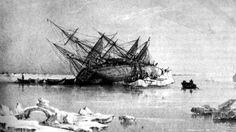 HMS Terror, as engraved by George Back. The Terror was lost after wrecking in 1846 during Sir John Franklin's doomed expedition to find the Northwest Passage. The wreckage was discovered earlier this month on a tip from an Inuit crewmember.