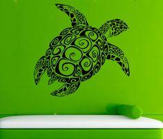 Turtle Vinyl Decal Tortoise Wall Sticker Sea Animals Wall Decals Wall Vinyl Decor /6xdf/