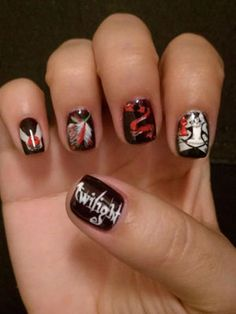 Twi-hard nails! Wish i could do this