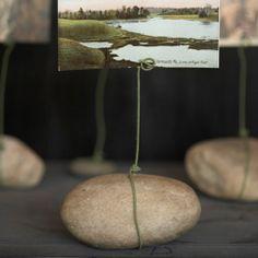 Cómo hacer portafotos con piedras