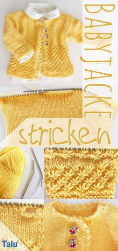 Baby Jacke Stricken Knitting as a relaxing but at the same time frame creative interest